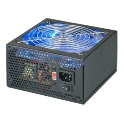 Top & Tech - 14749 - Coolmax 600W Blue LED Fan ATX Power Supply - ATX - 110 V AC, 220 V AC Input Voltage - 1 Fans - Internal - 600 W