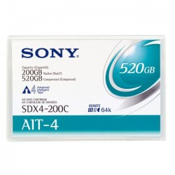 Sony - SDX4200CWW - Sony AIT-4 Tape Cartridge - AIT-4 - 200 GB (Native) / 520 GB (Compressed) - 807.09 ft Tape Length - 1 Pack