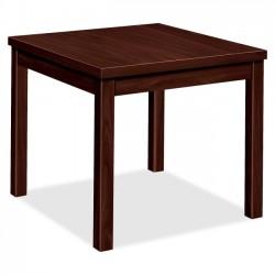 HON - 80192NN - HON Laminate Corner Table - Square Top - 24 Table Top Length x 24 Table Top Width x 1.13 Table Top Thickness - 20 Height - Laminated, Mahogany