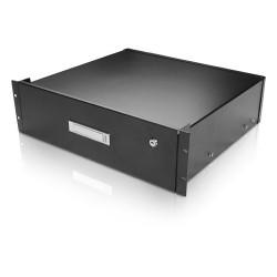 iStarUSA - WA-DWR3UB - Claytek 3U Sliding Drawer with Key Lock - 19 3U Wide Rack-mountable for Tool - SPCC - 44 lb x Maximum Weight Capacity