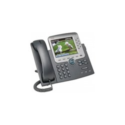 Cisco - CP-7975G-CH1 - Cisco 7975G Unified IP Phone - 10/100/1000Base-T - 8Phoneline(s) - Wall-mountable