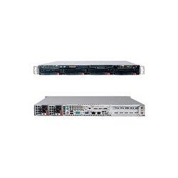 Supermicro - SYS-6015W-NTRV - Supermicro SuperServer 6015W-NTRV Barebone System - Intel 5400 - LGA771 Socket - Xeon (Quad-core), Xeon (Dual-core) - 1600MHz, 1333MHz, 1066MHz Bus Speed - 64GB Memory Support - DVD-Reader (DVD-ROM) - Gigabit Ethernet - 1U