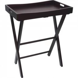 Lipper - 504E - Lipper NEW Butler Tray w/ Right Height Folding Luggage Rack, Espresso Finish - 30 Height x 22.9 Width x 15.3 Depth - Closet - Pine Wood - 1