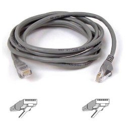 Belkin / Linksys - A3L791-04-S - Belkin Cat5e Patch Cable - RJ-45 Male Network - RJ-45 Male Network - 4ft - Gray