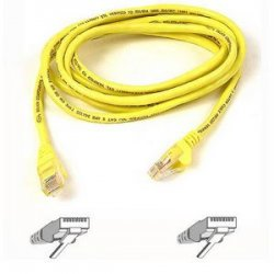 Belkin / Linksys - A3L791-25-YLW - Belkin - Patch cable - RJ-45 (M) to RJ-45 (M) - 25 ft - UTP - CAT 5e - yellow - for Omniview SMB 1x16, SMB 1x8, OmniView SMB CAT5 KVM Switch