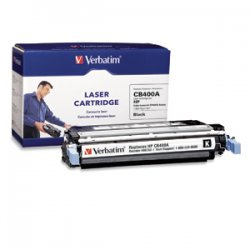 Verbatim / Smartdisk - 96753 - Verbatim Remanufactured Laser Toner Cartridge alternative for HP CB400A Black - Black - Laser - 7500 Page - 1 Pack