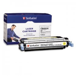 Verbatim / Smartdisk - 96755 - Verbatim Remanufactured Laser Toner Cartridge alternative for HP CB402A Yellow - Yellow - Laser - 7500 Page - 1 Pack