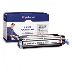 Verbatim / Smartdisk - 96756 - Verbatim Remanufactured Laser Toner Cartridge alternative for HP CB403A Magenta - Magenta - Laser - 7500 Page - 1 Pack