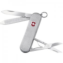 "Victorinox / Swiss Army - 53049 - Victorinox Swiss Army Classic SD Sterling Barleycorn Multipurpose Tool - 2.3"" Length - Silver - Key Ring"