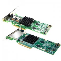 Promise Technology - STEX87685 - Promise SuperTrak STEX8768 8-port SAS RAID Controller - Serial ATA/600 - PCI Express 2.0 x8 - Plug-in Card - RAID Supported - 0, 1, 1E, 5, 6, 10, 50, 60 RAID Level - 2 Total SAS Port(s) - 2 SAS Port(s) Internal