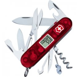 "Victorinox / Swiss Army - 53878 - Victorinox Swiss Army Traveller Lite Multipurpose Tool - 3.5"" Length - Key Ring, Alarm, Countdown Timer, Altimeter, comfortmeter, Thermometer, LED Light"