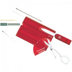 "Victorinox / Swiss Army - 53927 - Victorinox Swiss Army SwissCard Multipurpose Tool - 3.3"" Length - Translucent Ruby"