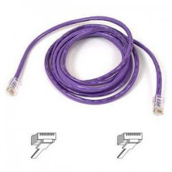 Belkin / Linksys - A3L791-25-PUR-S - Belkin Cat5e Patch Cable - RJ-45 Male Network - RJ-45 Male Network - 25ft - Purple