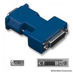 Belkin / Linksys - F2E4261 - Belkin Pro Series DVI Adapter - 1 Pack - 1 x HD-15 Male - 1 x DVI-I Female Video - Blue