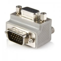StarTech - GC1515MFRA1 - StarTech.com VGA adapter cable - Type 1 - right angle VGA (m) - VGA (f) - 1 x HD-15 Male VGA - 1 x HD-15 Female VGA - Gray