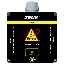 Ditek - D100-4803D - DITEK 100kA/?, 50kA/Mode Surge Protective Device - 480 V AC Input - 480 V AC Output