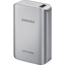 Samsung - EB-PG930BSUGUS - Samsung Fast Charge Battery Pack(5.1A), Silver - For Smartphone, Tablet PC, USB Device - 5100 mAh - 2 A - 5 V DC Output - 1 x - Silver