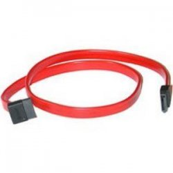 "C2G (Cables To Go) - 10181 - C2G 18in 7-pin 180° to 90° 1-Device Serial ATA Cable - Female SATA - Female SATA - 18"" - Translucent Red"