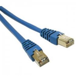 C2G (Cables To Go) - 27251 - C2G-7ft Cat5e Molded Shielded (STP) Network Patch Cable - Blue - Category 5e for Network Device - RJ-45 Male - RJ-45 Male - Shielded - 7ft - Blue