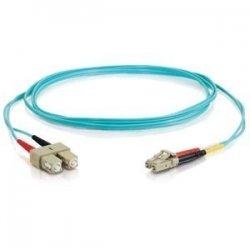 C2G (Cables To Go) - 33053 - 3m LC-SC 10Gb 50/125 OM3 Duplex Multimode PVC Fiber Optic Cable - Aqua - Fiber Optic for Network Device - LC Male - SC Male - 10Gb - 50/125 - Duplex Multimode - OM3 - 10GBase-SR, 10GBase-LRM - 3m - Aqua