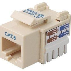 Belkin / Linksys - R6D026-AB6-IVO - Belkin Cat. 6 Keystone Jack - RJ-45, 110-punchdown