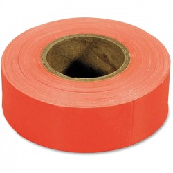 IRWIN Industrial Tool - 65602 - Strait-Line Flagging Tape - 1.19 Width x 50 yd Length - Polyvinyl Chloride (PVC), Vinyl - 1 Roll - Fluorscent Orange
