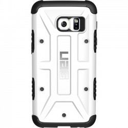 Urban Armor Gear - GLXS7-WHT - Urban Armor Gear White Case for Galaxy S7 - Smartphone - White, Black - Rubberized