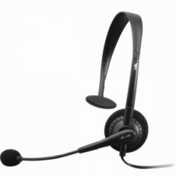 Cyber Acoustics - AC-100B - Cyber Acoustics AC-100B Monaural Headset - Over-the-head - Black