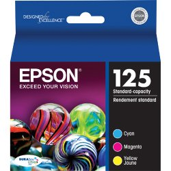 Epson - T125520 - Epson Standard Capacity Ink Cartridge - Inkjet - 305 Page - 3 / Pack