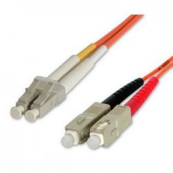 StarTech - 50FIBLCSC2 - StarTech.com 2m Fiber Optic Cable - Multimode Duplex 50/125 - LSZH - LC/SC - OM2 - LC to SC Fiber Patch Cable - LC Male Network - SC Male Network - 6.4ft