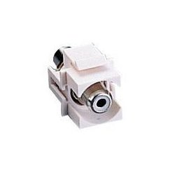 C2G (Cables To Go) - 03822 - C2G Snap-In White RCA Keystone Insert F/F Module - White - RCA