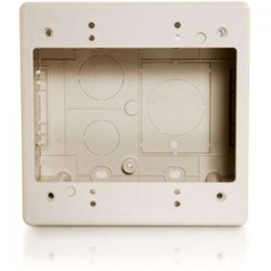 C2G (Cables To Go) / Legrand - 13380 - C2G Tyton Raceway Dual Gang 2.77in Junction Box - Ivory - Mount Box - Ivory