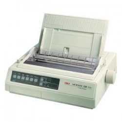 Okidata - 62411703 - OKI Microline 321 Turbo - Printer - monochrome - dot-matrix - A3 - 240 x 216 dpi - 9 pin - up to 435 char/sec - parallel