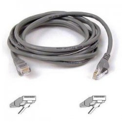 Belkin / Linksys - A3L791-12 - Belkin Cat5e Patch Cable - RJ-45 Male - RJ-45 Male - 12ft - Gray