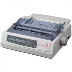 Okidata - 91907101 - OKI Microline 320 Turbo - Printer - monochrome - dot-matrix - Letter - 240 x 216 dpi - 9 pin - up to 435 char/sec - parallel, USB, serial
