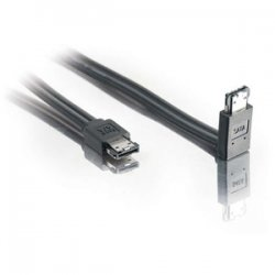 C2G (Cables To Go) - 10223 - C2G 2m 180° to 90° External Serial ATA Cable - 6.56ft - Black