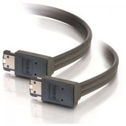C2G (Cables To Go) - 10225 - C2G 2m 90° to 90° External Serial ATA Cable - eSATA - eSATA - 6.56ft - Black