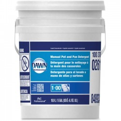 Procter & Gamble - 02611 - Dawn Manual Pot and Pan Detergent - Concentrate Liquid - 5 gal (640 fl oz) - Bottle - 1 / Each - Blue