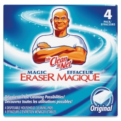 Procter & Gamble - 82027 - Mr. Clean Magic Eraser Cleaning Pad - Pad - 4 / Pack - Blue, White