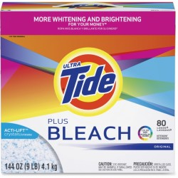 Procter & Gamble - 84998 - Tide Vivid Plus Bleach Detergent - Powder - 144 oz (9 lb) - Original Scent - 1 / Box - White