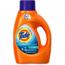 Procter & Gamble - 87352 - Tide ColdWater Laundry Detergent - Liquid - 0.36 gal (45.99 fl oz) - Fresh Scent - 1 / Bottle - Orange