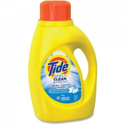 Procter & Gamble - 89119 - Tide Simply Clean/Fresh Detergent - Liquid - 0.39 gal (50 fl oz) - Refreshing Breeze ScentBottle - 1 Each - Yellow