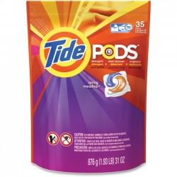 Procter & Gamble - 93127 - Tide Pods Spring Meadow Detergent - 31 oz (1.94 lb) - Spring Meadow Scent - 35 / Bag - White, Orchid