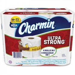 Procter & Gamble - 94143 - Charmin Ultra Strong Bath Tissue - 2 Ply - White - Durable, Strong, Soft - For Toilet - 18 / Carton