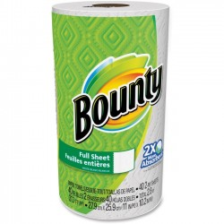 Procter & Gamble - 95028 - Bounty Full Sheet Paper Towels - 2 Ply - 44 Sheets/Roll - White - Absorbent - For Kitchen - 44 / Roll
