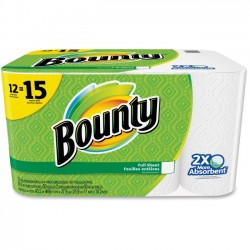 Procter & Gamble - 95032 - Bounty Full Sheet Paper Towels - 2 Ply - 50 Sheets/Roll - White - Absorbent, Perforated - For Kitchen - 12 / Pack
