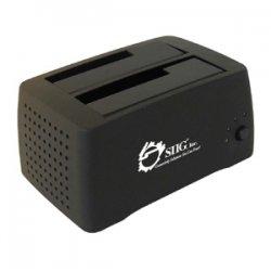"""SIIG - SC-SA0412-S1 - SIIG Cool Dual SATA to USB 2.0 Docking Station - 3.5"""" - 1/3H Hot-swappable - External"""