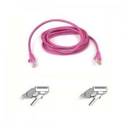 Belkin / Linksys - A3L791-07-PNK - Belkin Cat5e Patch Cable - RJ-45 Male Network - RJ-45 Male Network - 7ft - Pink