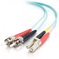 "C2G (Cables To Go) - 36121 - C2G 1m LC-ST 10Gb 50/125 Duplex Multimode OM3 Fiber Cable - Aqua - 3ft - Fiber Optic for Network Device - LC Male - ST Male - 10Gb - 50/125 - Duplex Multimode - OM3 - 10GBase-SR, 10GBase-LRM - 1m - Aqua"""""