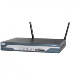Cisco - CISCO1801WAGBK9-RF - Cisco - 1801 Fixed-Configuration Integrated Services Router - 1 x ADSL WAN, 1 x ISDN BRI (S/T), 1 x 10/100Base-TX WAN, 8 x 10/100Base-TX LAN, 1 x Auxiliary Management, 1 x Console Management